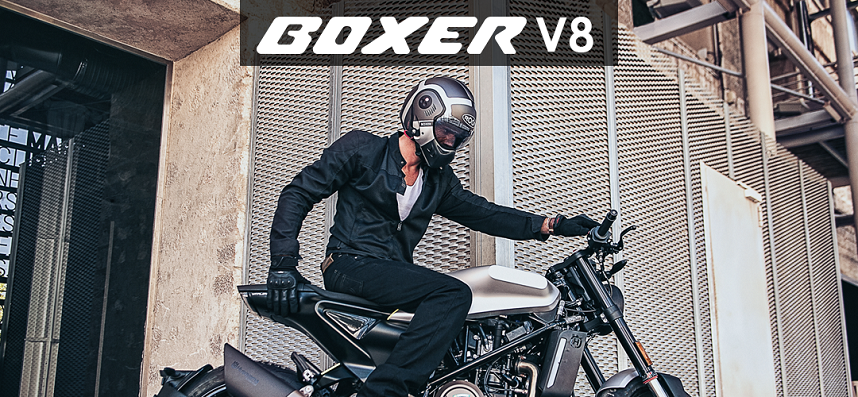 Boxer V8 Klapphelme