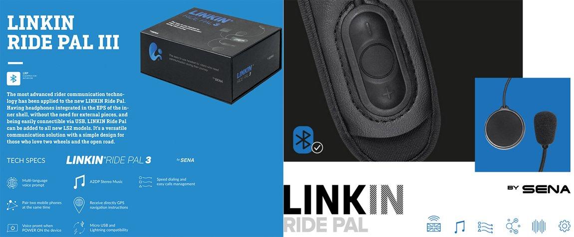 Linkin Ride Pal 3 Motorrad-Headset für LS2 Helme