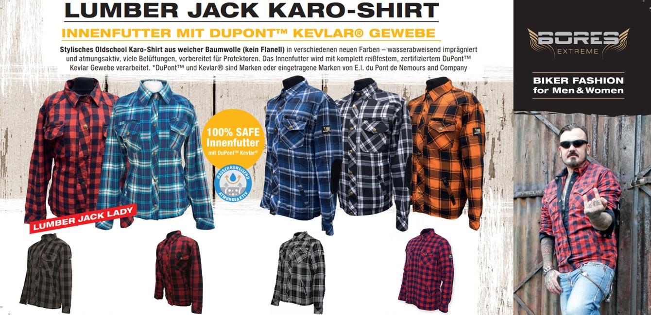 Bores Lumberjack Holzfäller-Motorradhemden
