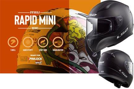 LS2 FF353J Rapid Mini Kinder-Motorradhelme