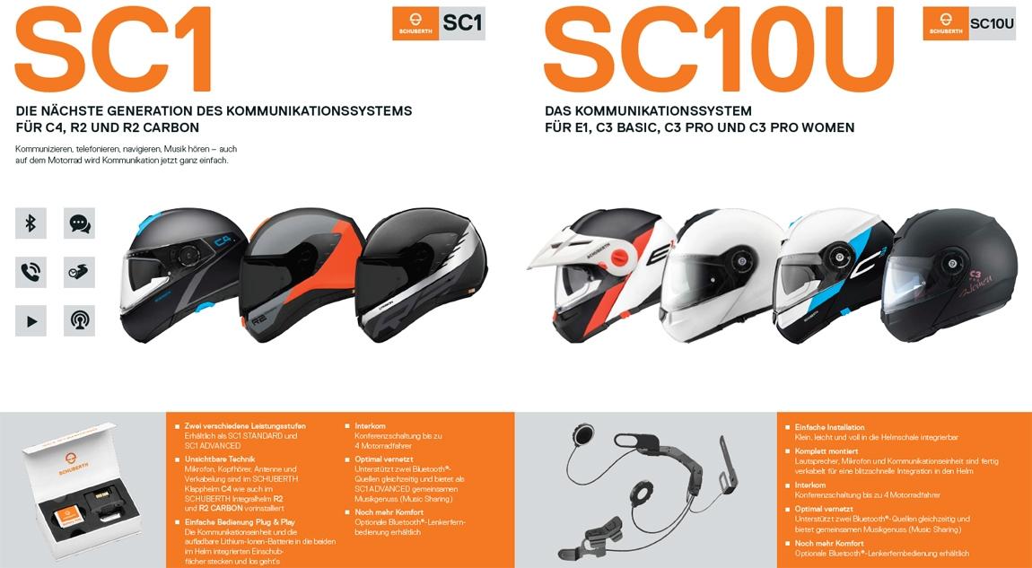 Headsets für Schuberth Motorradhelme
