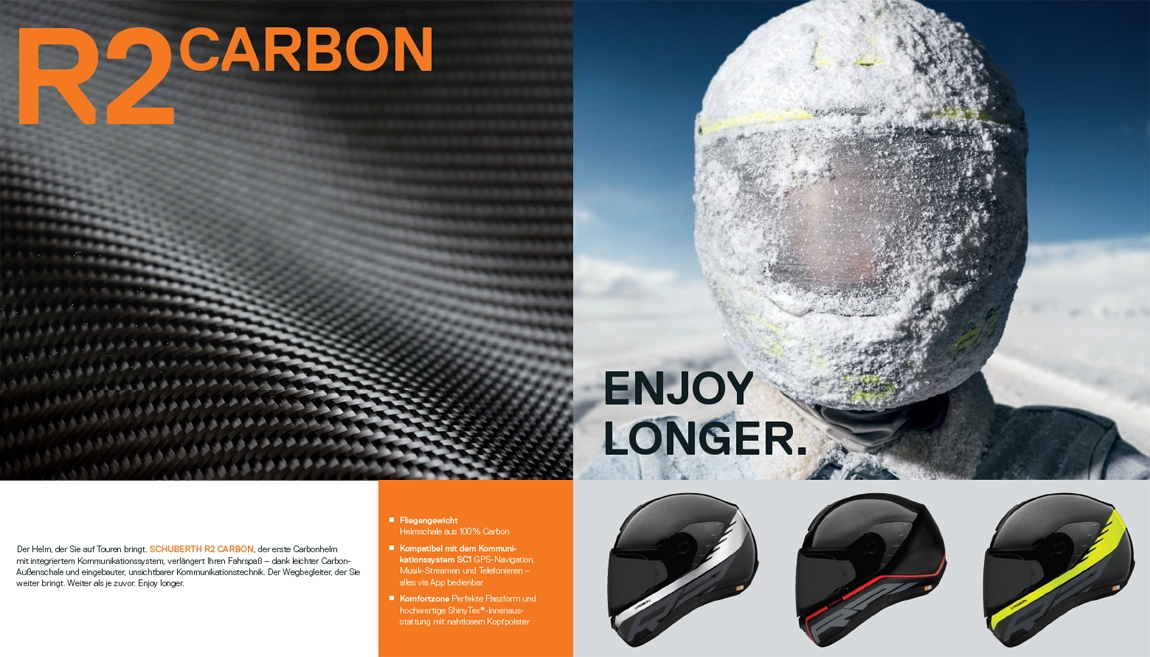 Schuberth R2 Carbon Integralhelme
