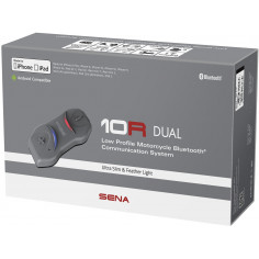 Sena Headset 10R Doppelset ultraflach Bluetooth 4.1 FM-Radio 4-Wege Intercom bis 900m