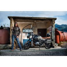 Held Damen-Lederjacke LAXY Motorradjacke mit Clip-In-Technologie und SAS-TEC Slim-Line Protektoren