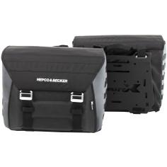 Hepco & Becker Seitenkoffer XTRAVEL BASIC Softtaschen Set 2 Stck für Motorrad inklusive Universal-Adapterplatten