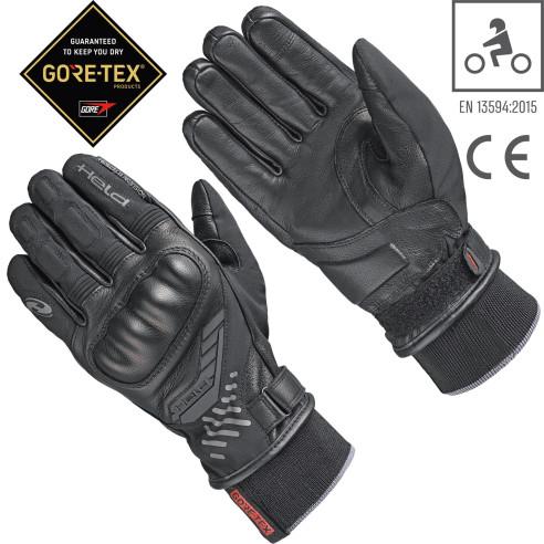Held Gore-Tex Motorradhandschuhe MADOC wasserdicht Leder Reflex CE-zertifiziert