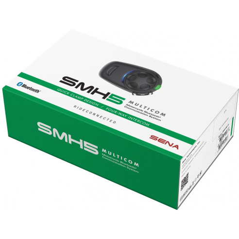 Sena Headset SMH5 MULTICOM Einzelset Bluetooth einfacher Anbau 4-Wege-Intercom 700m