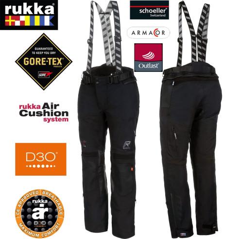 Rukka Gore-Tex Pro Motorradhose SHIELD-R 3-Lagen-Laminat mit D3O XTR Protektoren