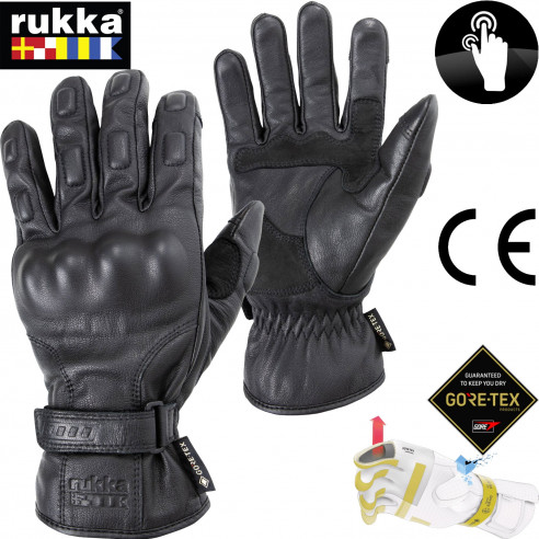 Rukka Gore-Tex Motorradhandschuhe BEXHILL Gore-Grip Technologie Leder CE