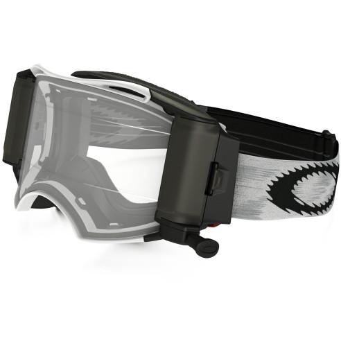 Oakley Motocross Brille AIRBRAKE MX Matte White Speed mit Roll-Off und klaren HDO Gläsern