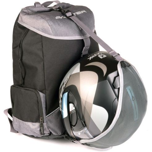 Bagster Motorrad-Rucksack BLOCK 25 Liter 17 Zoll Computertasche mit Helmnetz Brustgurt und reflektierenden Elementen