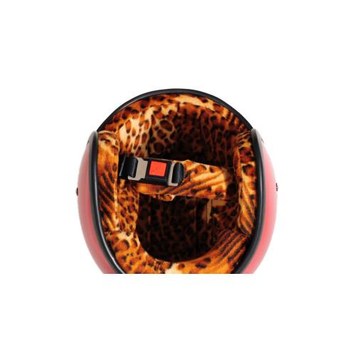 Bandit Jethelm JET STAR mit Leoparden Optik ohne ECE inkl. Helmschirm