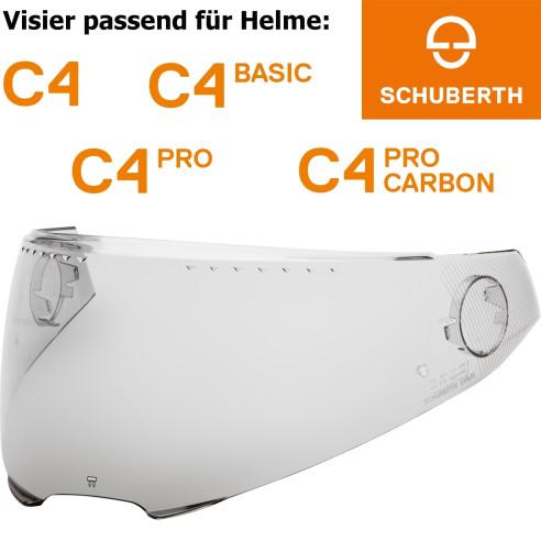Schuberth Visier SV5 für Helme C4 / C4 Basic / C4 Pro / C4 Pro Carbon Pinlock vorbereitet