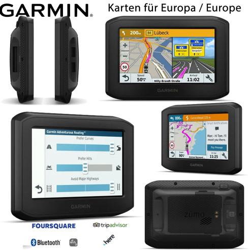 Garmin Navigationsgerät ZUMO 396 LMT-S mit Karten für ganz Europa WiFi Bluetooth 4,3 Zoll Display inklusive Updates