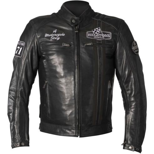 Helstons Motorradjacke INDY Leder mit Thermoweste und Protektoren