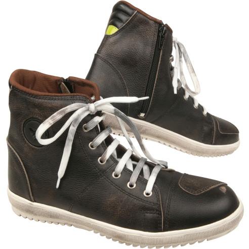 Modeka Motorradschuhe LANE ZIP Sneaker mit Lederdopplungen Verstärkungen und Reißverschluss