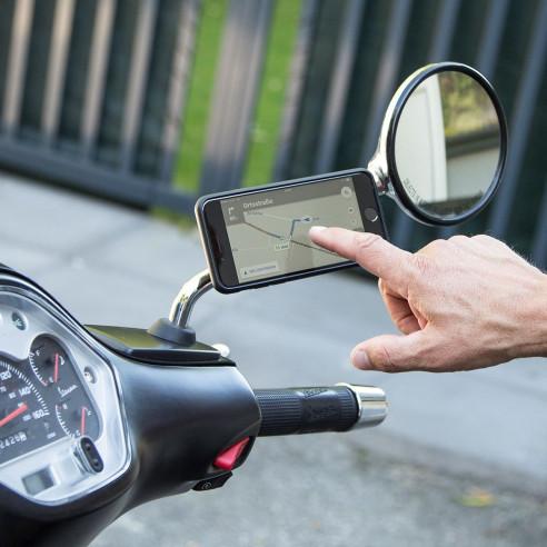 SP Connect Motorrad-Spiegelhalterung MIRROR MOUNT für Smartphones Moped 360°
