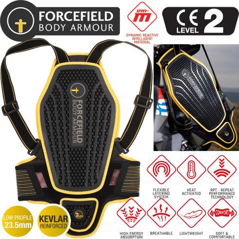 Forcefield Rückenprotektor PRO L2K DYNAMIC CE Level 2 für Herren mit 3D Wärmeaktivierung und Aramid-Nähten