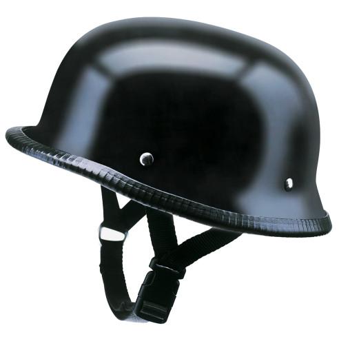 Redbike Halbschalen-Helm RK-300 ohne ECE schwarz matt Fiberglas Classic Retro
