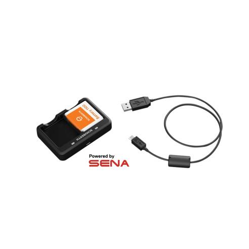 Sena Ladegerät DUAL CHARGER 2 Akku-Ladegerät passend für Schuberth Headsets SC1 Standard und Advanced