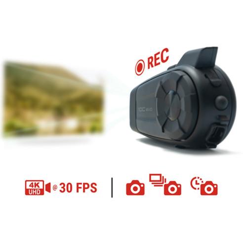Sena Motorrad-Headset 10C EVO mit 4K Kamera Video Foto Zeitraffer Bluetooth Radio und Universal Intercom bis 1,6 km