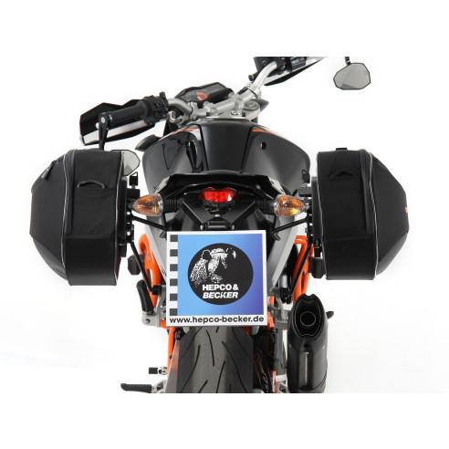 Hepco & Becker Seitenkoffer Set STREET Modell 2020 für C-Bow Halter Seitentasche Softtaschen für Motorrad