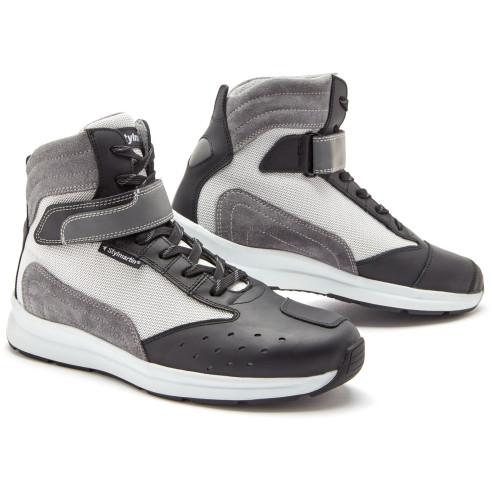 Stylmartin Motorrad Sneaker AUDAX AIR Leder Sommer Schuhe mit Air-Mesh Reflex CE