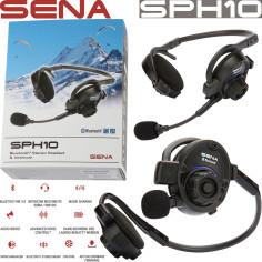 Sena Bluetooth Headset SPH10 HQ-Stereo Kopfhörer für Outdoor Sport Motorrad mit Intercom