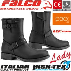 Falco Damen Motorradstiefel DANY 2 Leder wasserdicht mit D3O Protektoren und CE-Zertifizierung