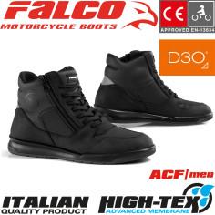 Falco Motorradschuhe CORTEZ 2 Leder Sneaker wasserdicht perforiert mit D3O Protektoren