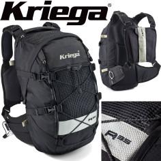 Kriega Motorrad Rucksack R35 trinkwasserkompatibel leicht Hüftgurt Quadloc-Gurt-System 35 Liter