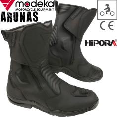 Modeka Motorradstiefel ARUNAS Leder wasserdicht Hipora doppelter Reißverschluss Mesh CE