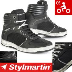 Stylmartin Motorradschuhe ATOM Mesh Leder Sneaker mit Knöchelprotektoren