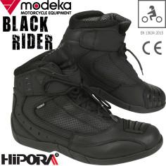 Modeka Motorradschuhe Black Rider CE Sport Stiefel Leder mit Knöchel- und Schaltverstärkungen