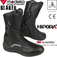 Modeka Motorradstiefel BLAKER Hipora wasserdicht reflektierend mit Verstärkungen und CE
