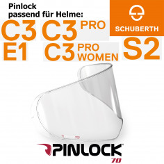 SCHUBERTH Pinlockscheibe für Visier der Helme C3 / C3 Pro / S2 / S2 Sport / E1