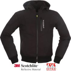 Modeka Motorrad-Softshell Jacke CLARKE mit abnehmbarem Hoodie Thermoweste und Protektoren