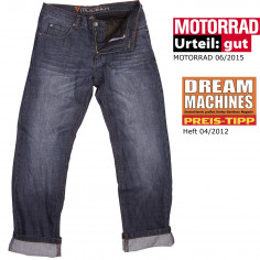 Modeka Motorradjeans DENVER 2 II PRO Relaxed-Fit mit Aramid-Innenhose und Knieprotektoren