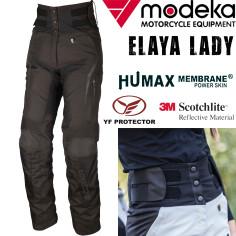 Modeka Damen Motorradhose ELAYA LADY mit High-Waist Stretchbund Humax-Membrane und YF Protektoren