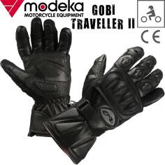 Modeka Motorradhandschuhe GOBI TRAVELLER II 2 Leder Stretch Touch Tip mit CE
