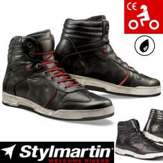 Stylmartin Motorradschuhe IRON Leder Sneaker wasserdicht mit CE und Knöchelprotektoren