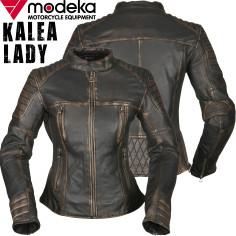 Modeka Lederjacke KALEA LADY für Damen im Retro-Look mit Steppungen Belüftung und Protektoren
