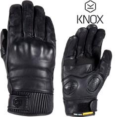 Knox Motorradhandschuhe HADLEIGH wasserdicht Leder kurze Stulpe 3-Jahreszeiten