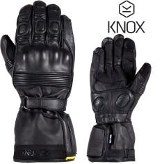Knox Motorradhandschuhe COVERT MK3 3-Jahreszeiten wasserdicht mit Softleder und Protektoren