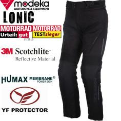 Modeka 3in1 Motorradhose LONIC wasserdicht Humax mit Thermofutter Hosenträgern und  Protektoren