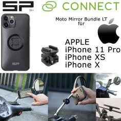SP Connect Spiegelhalterung MOTO MIRROR BUNDLE LT Motorrad für Apple iPhone 11 Pro / XS / X