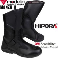 Modeka Motorradstiefel MONZA 2 II Leder wasserdicht Hipora 3M Klettverschluss CE