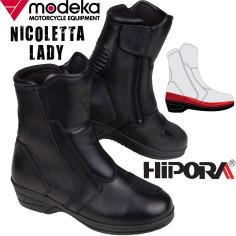 Modeka Damen Motorradstiefel NICOLETTA LADY wasserdicht CE mit erhöhtem Absatz perfekt für kurze Beine