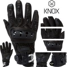 Knox Motorradhandschuhe ORSA MK II Leder CE mit Protektoren perforiert Sommer kurze Stulpe