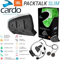 Cardo PACKTALK SLIM Motorrad Headset mit JBL-Sound und DMC-Interkom bis zu 15 Personen